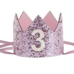 Haarband kroon roze 3 jaar