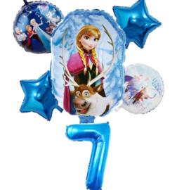 Frozen Ballonset  7 jaar (6-delig)