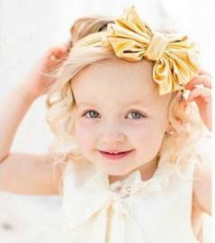 Haarband gouden grote strik