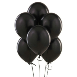 Effen zwarte ballon 5 stuks
