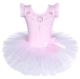 Balletpak roze, kort mouw