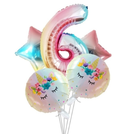 Folie Ballon Unicorn 6 jaar