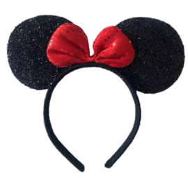 Minnie Mouse ROOD glitter diadeem luxe