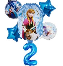 Frozen Ballonset 2 jaar (6-delig)