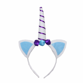 Unicorn diadeem blauw/paars
