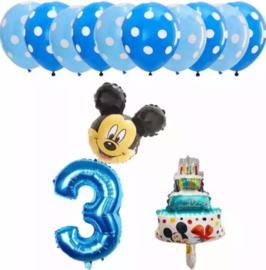 Mickey Mouse ballonnen 3 jaar (13-delig)