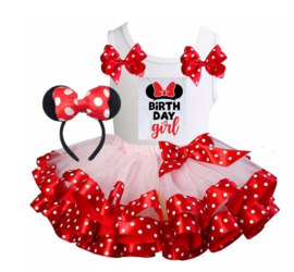 Minnie Mouse set Birthday Girl (3-delig)