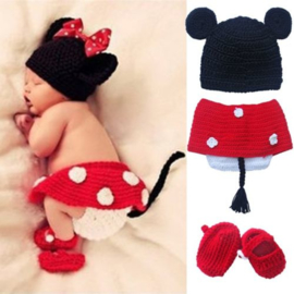 Minnie Mouse rood 4-delig