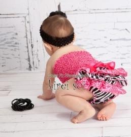 Luierbroekje zebra pink stippen