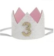 Haarband kroon wit 3 jaar