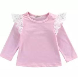 T-shirt met lange mouw roze