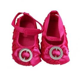 Balletschoen pink met strass