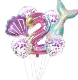 Zeemeermin ballonnenset 2 jaar