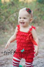 Baby Jumpsuit kant Rood