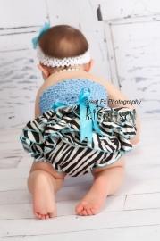 Luierbroekje zebra blauwe strik