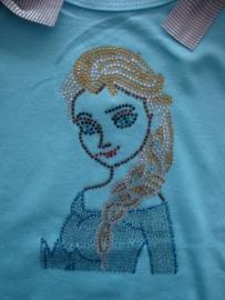 Frozen T-shirt prinses Elsa silhouet glitters