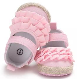 Babyschoen Roze met ruches