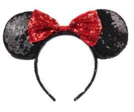 Minnie Mouse glitter diadeem rood