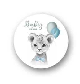 Sluitsticker Baby nieuws blauw
