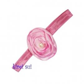 Haarband parelroos roze