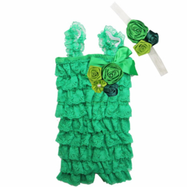 Jumpsuit Luxe Groen + haarband
