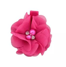 Haarclip bloem pink
