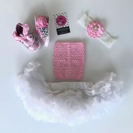 Babyset wit-roze-panter (4 delig)