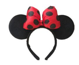 Minnie Mouse rood zwarte stippen diadeem 3D luxe