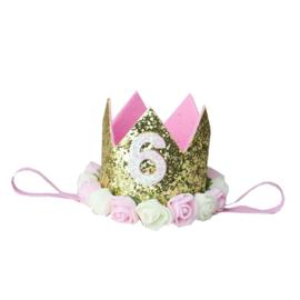 Haarband kroon goud 6 jaar