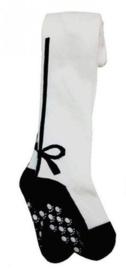 Maillot wit met zwarte strik (6-12 mnd)