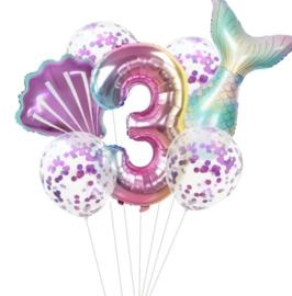 Zeemeermin ballonnenset 3 jaar