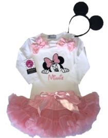 Minnie Mouse roze setje (3-delig)