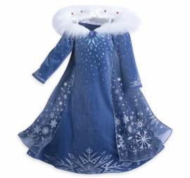 Luxe prinsessenjurk Frozen met bontkraag