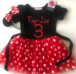 Minnie Mouse jurk + eigen naam