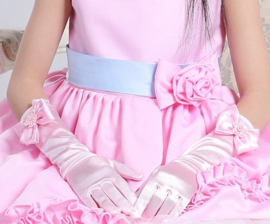 Gala handschoenen lang roze