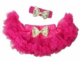 Pettiskirt Pink/Goud + haarband