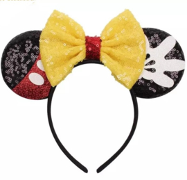 Minnie Mouse diadeem gele strik