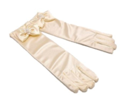 Gala handschoenen kort ivoor