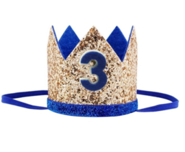 Kroon blauw/goud 3 jaar