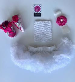 Babyset wit-pink(4 delig)