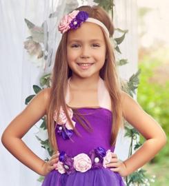 Luxe riem handgemaakt paars-roze