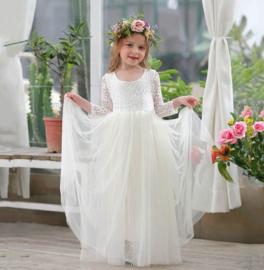 Romantisch jurk Charlotte ivoor