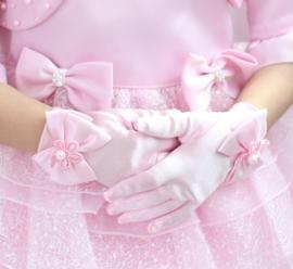 Gala handschoenen kort roze