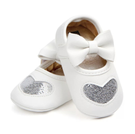 Babyschoen ZILVER glitter hart