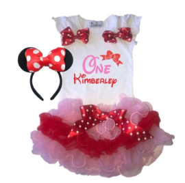 Minnie Mouse set tutu One + NAAM (3-delig)