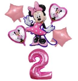 Minnie Mouse ballonnen 2 jaar (6-delig)