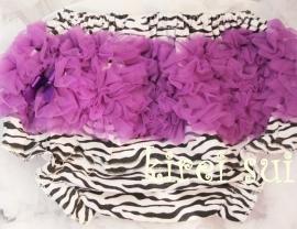 Luierbroekje/bloomer zebra paars
