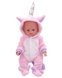 Unicorn baby poppen pakje roze