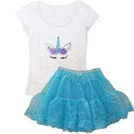 Unicorn tutu set blauw