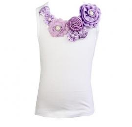 Top lavendel satijnen roosjes